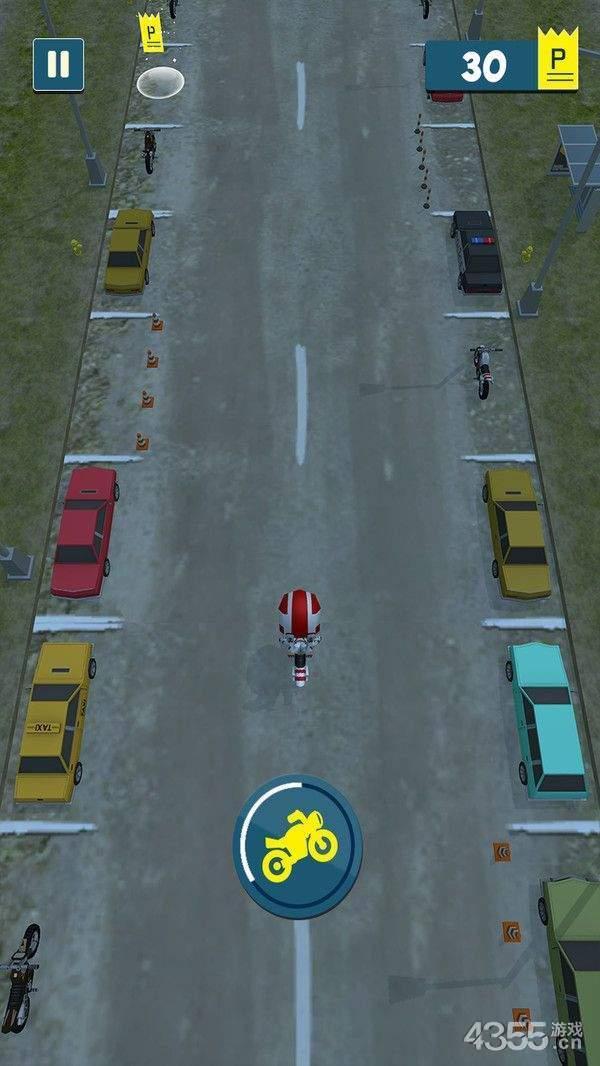 摩托车漂移停放