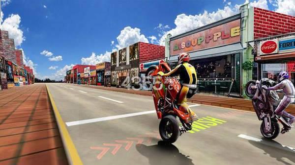 轮班摩托车疯狂赛车